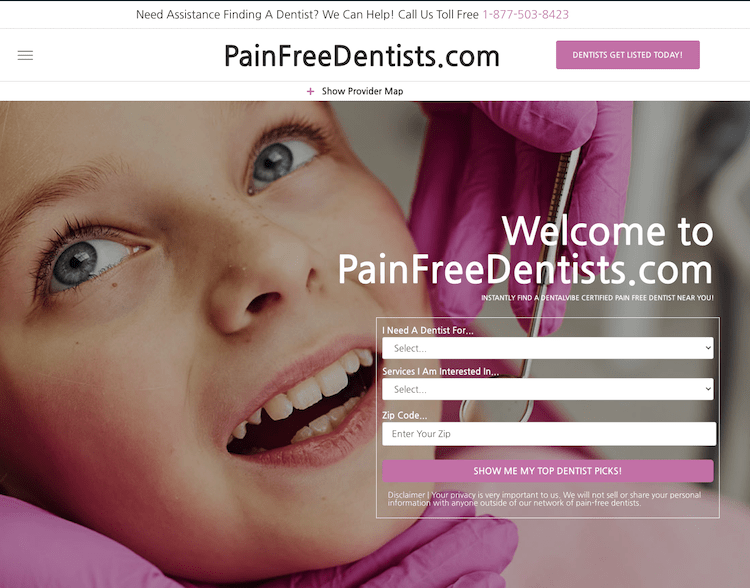 PainFreeDentists.com DentalVibe's Pain Free Directory!